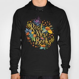 Read More Books - Black Floral Gold Hoody