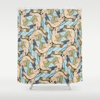 darwin Shower Curtains featuring Darwin Award Nominee tessellation by Feene