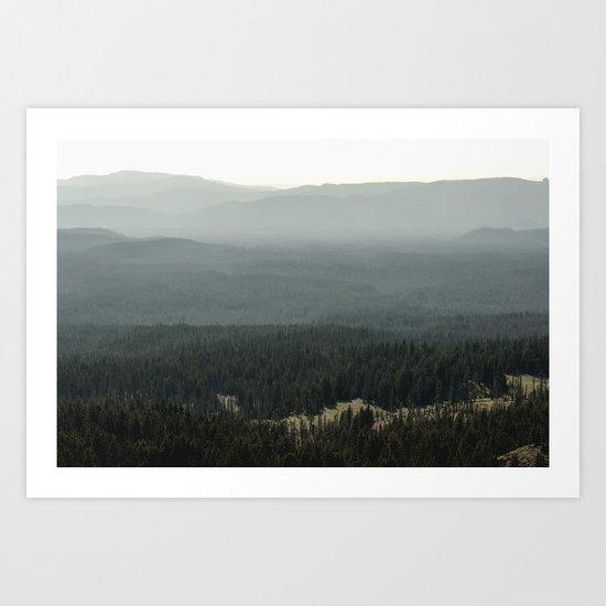 Oregon Mountain Forest Art Print