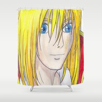 howl Shower Curtains featuring Howl by Hallie Bissett