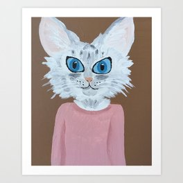 Baby the Cat Art Print
