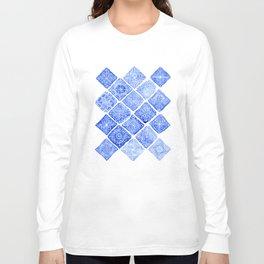 Blue Tiles Long Sleeve T-shirt