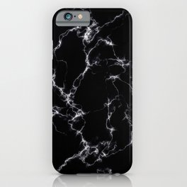 Elegant Marble style4 - Black and White iPhone Case