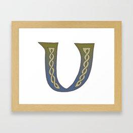 Celtic Knotwork Alphabet - Letter V Framed Art Print