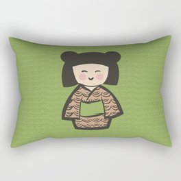 Geisha Dress Code (green) Rectangular Pillow