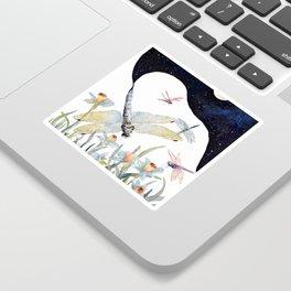 Good Night Surreal Dragonfly Artwork Sticker