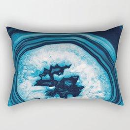 Blue White Agate #2 #gem #decor #art #society6 Rectangular Pillow