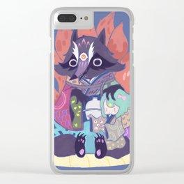 Tanukikitsune Clear iPhone Case