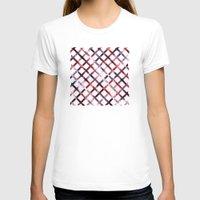 plaid T-shirts featuring Christmas Plaid by Josh Franke