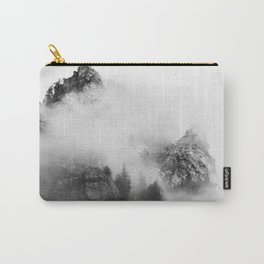 back and white mountains Carry-All Pouch