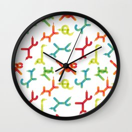 Balloon animals pattern #3 Wall Clock