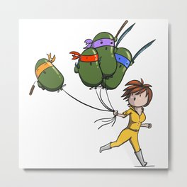 TMNT Balloons! Metal Print