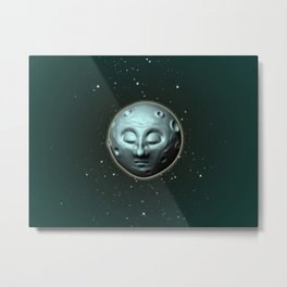 Moon over starry sky Metal Print