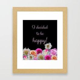 Flowers Cheer Framed Art Print