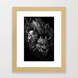 Demon Duel Framed Art Print