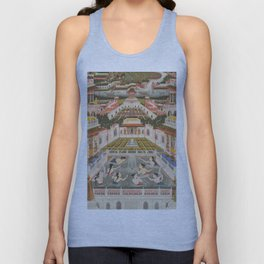 Women Bathing, Fayzullah, 1765 - Vintage Indian Painting Unisex Tank Top