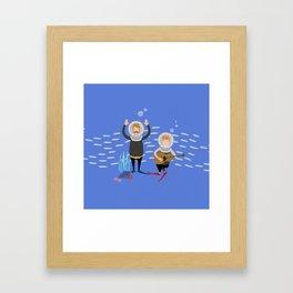 Music in the ocean Framed Art Print