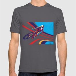 retro track cycling poster print G Force T-shirt