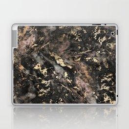 Gold Vein Black Marble Design Laptop & iPad Skin