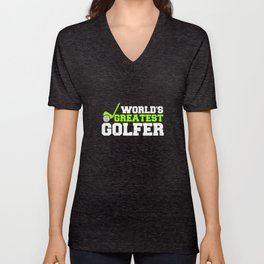 Golf Play Clubs Golf Golfers Golfers Unisex V-Neck