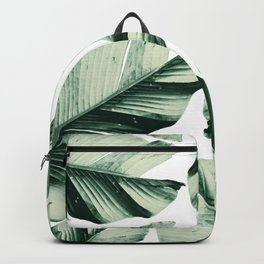 Tropical Banana Leaves Vibes #1 #foliage #decor #art #society6 Backpack