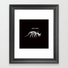 I hate comet! Framed Art Print