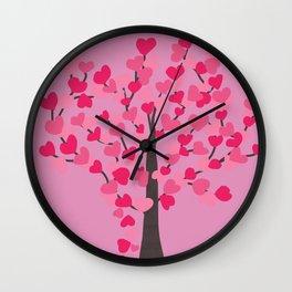 Tree of Hearts Wall Clock