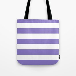 Ube - solid color - white stripes pattern Tote Bag