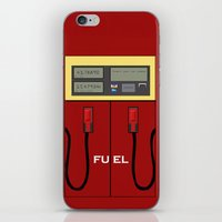 pocket fuel iPhone & iPod Skins featuring Fuel Station by Dano77