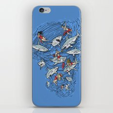 Malibu Beach Sharnado Massacre  iPhone & iPod Skin