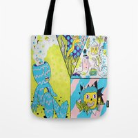 health Tote Bags featuring Mental Health by Frenemy