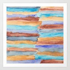 Beach Stripes Art Print