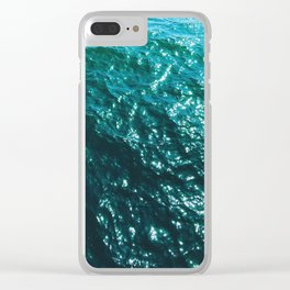 Foil Sea Clear iPhone Case