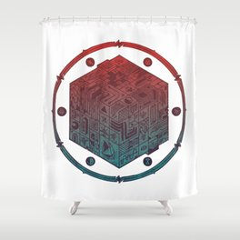The Folly of Time and Space, Explained Shower Curtain
