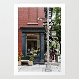 Picturesque restaurant in Greenwich Village, New York Art Print