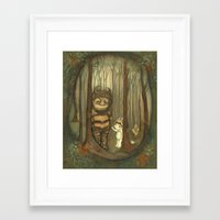 wild things Framed Art Prints featuring Wild Things  by thepoppytree