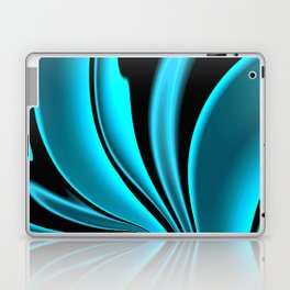Abstract Fractal Colorways 02 Pacific Blue Laptop & iPad Skin