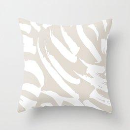 Neutral Brush Strokes Throw Pillow