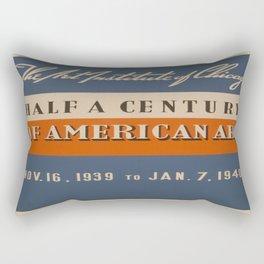 Vintage poster - Art Exhibit Rectangular Pillow