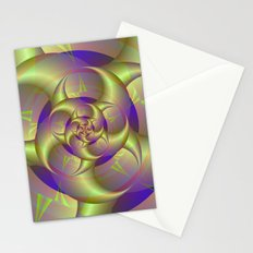 Spiral Pincers in Blue and Green Stationery Cards