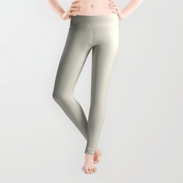 Neutral Off-white - Cream - Ivory Solid Color Parable to Valspar Snowy Dusk 7002-3 Leggings