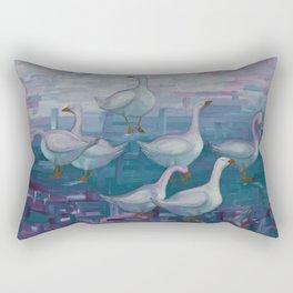 A Gaggle of Geese Rectangular Pillow