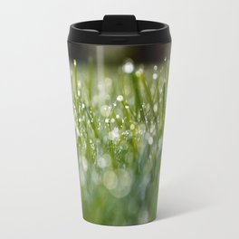 Dew Laden Grass 1 Travel Mug