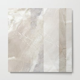 Fragments 8 - abstract neutral marble stripe Metal Print