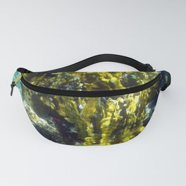 Watercolor Sealife Fire and Brain Coral, A Feisty & Witty Combination Fanny Pack