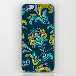 Scroll - Hand Painted Teal Ground iPhone Skin
