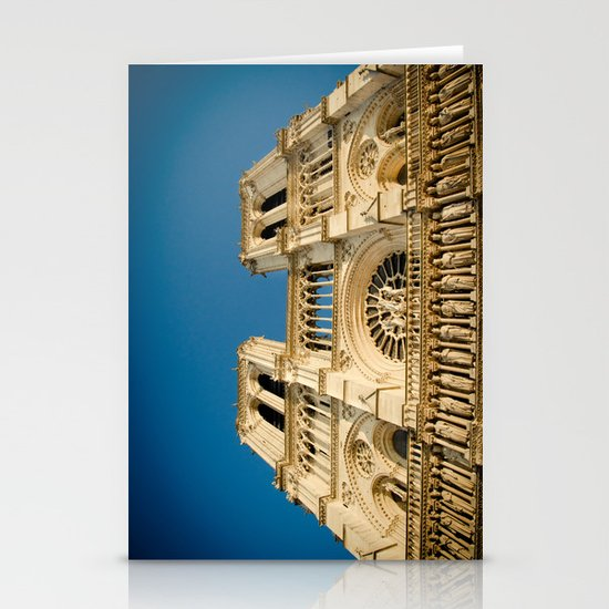 Notre Dame Cathedral on the Seine Facade Stationery Cards