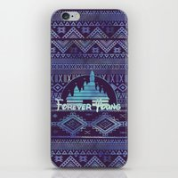 forever young iPhone & iPod Skins featuring forever young by Sara Eshak