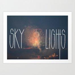 SKY LIGHTS Art Print