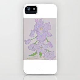 Flor de Fantasias Larkspur iPhone Case